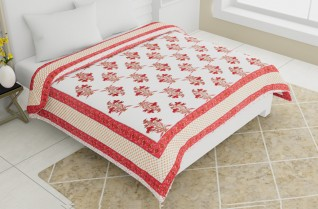 Jaipuri Quilted Bedcovers Multicolor 100x108-Jaipur Wholesaler