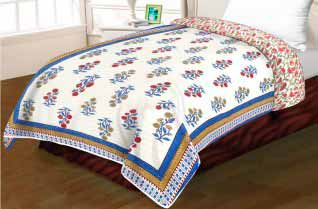 Single Bed Multicolor Razai 90x100-Jaipur Wholesaler