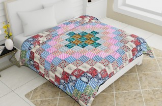 Best Quilted Bedcovers Multicolor 100x108-Jaipur Wholesaler