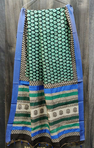 Silk saree with blouse piece-Jaipur Wholesaler