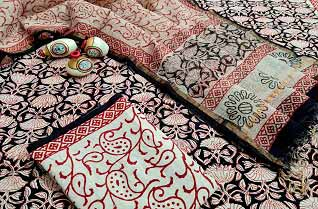 Cotton salwar suits with pure kota zari dupatta-Jaipur Wholesaler